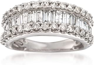 Ross-Simons 2.00 ct. t.w. Baguette and Round Diamond Ring in 14kt White Gold