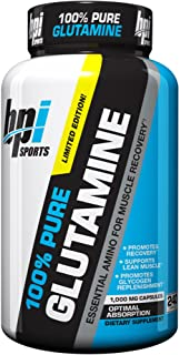 BPI Sports Glutamine Essential Amino Acid for Muscle Recovery, Supports Lean Muscle and Promotes Glycogen Replenishment, 2...