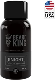 BEARD KING - Beard Oil - Knight - 100% Natural, Non-Greasy Premium Oil for Men, Delivers Nutrients & Vitamins to Nourish Facial Hair for Best Beard Growth, Made in USA - 1oz. (Knight)