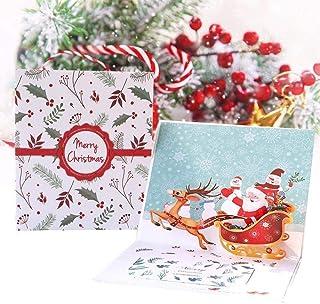 Tarjetas de Navidad,3D Pop Up Tarjetas de Felicitación de Navidad con Sobres Tarjetas de Felicitación Tarjetas para Navida...