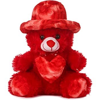 Deals Indiateddy Bear 1.5 Feet Cap Teddy Very Beautiful Huggable Valentine and Birthday Gifts Lovable Special Gift - 32 cm (Red)