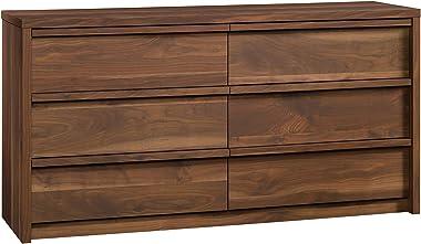 """Sauder Harvey Park Dresser, L: 60.71"""" x W: 17.48"""" x H: 31.06"""", Grand Walnut Finish"""