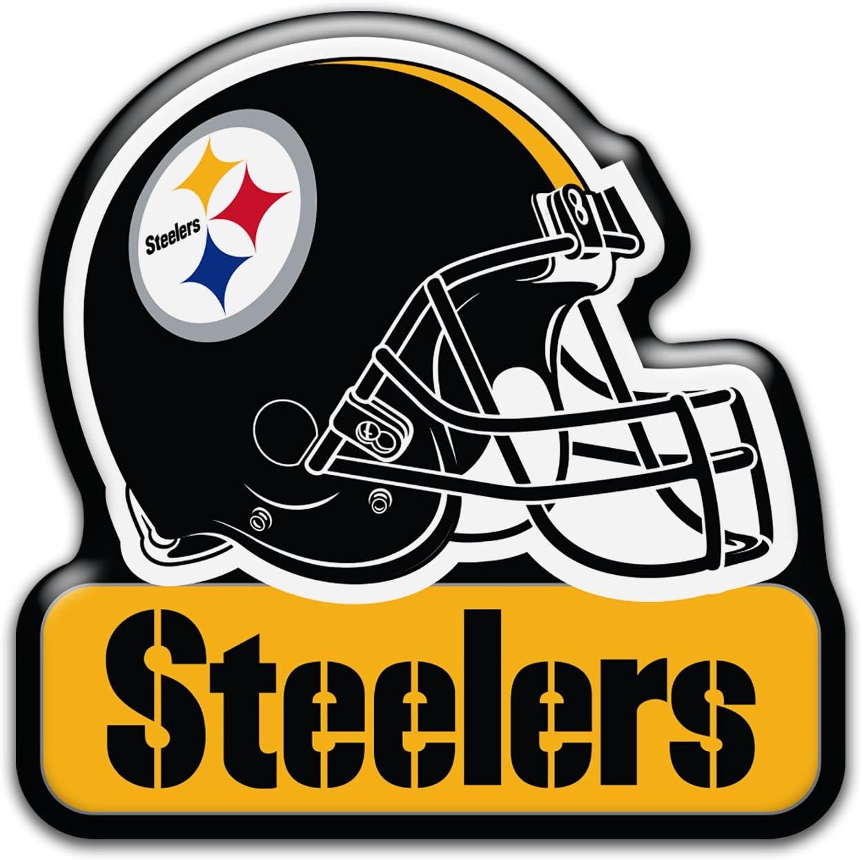 "Aminco NFL Pittsburgh Steelers 3"""" Heavy Duty Helmet Magnet, Black, 4.5 (NFL-MG-1067-12) : Sports & Outdoors"
