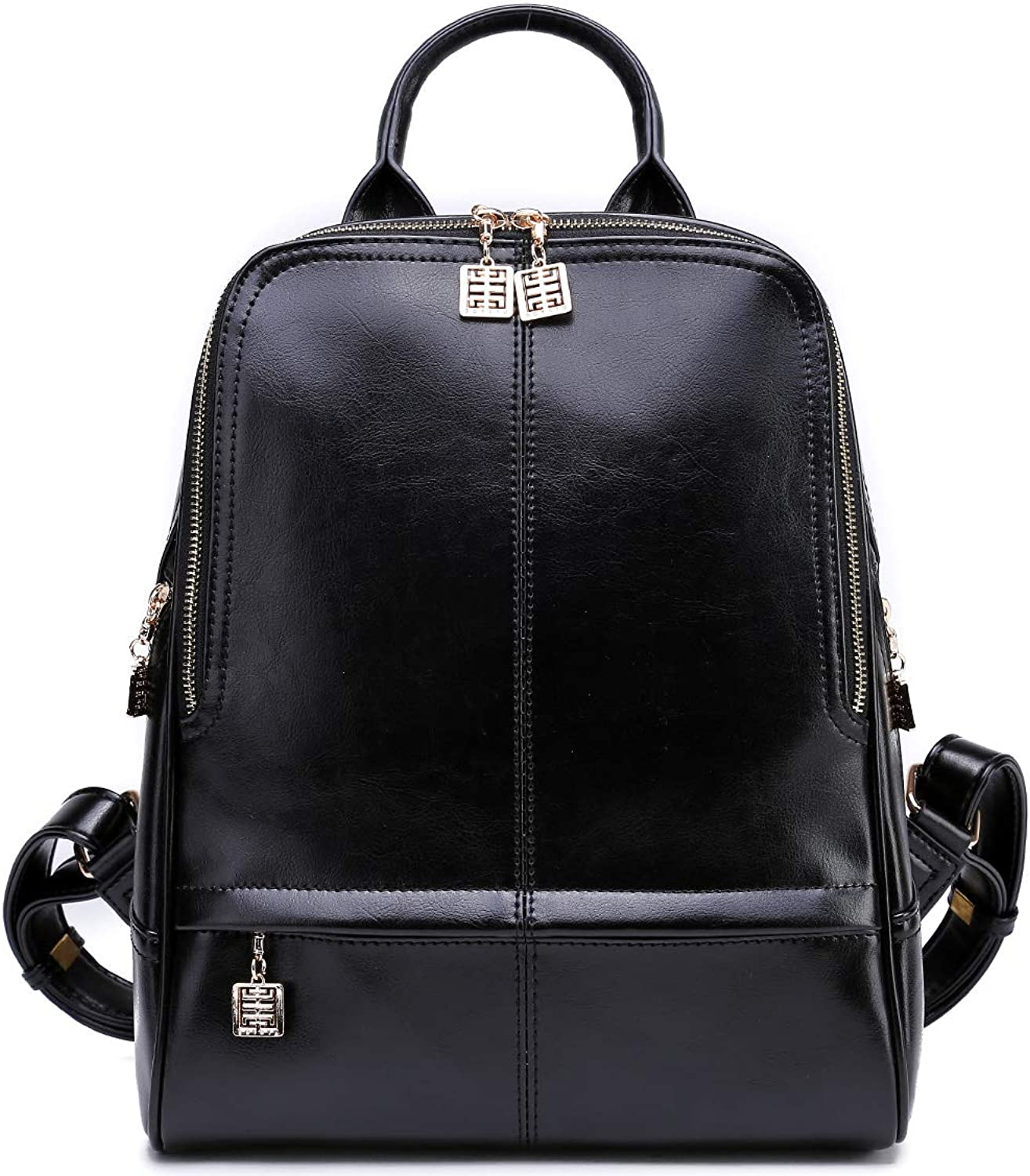BOYATU Real Leather Backpack Purse for damen Stylish College School Ladies Bags