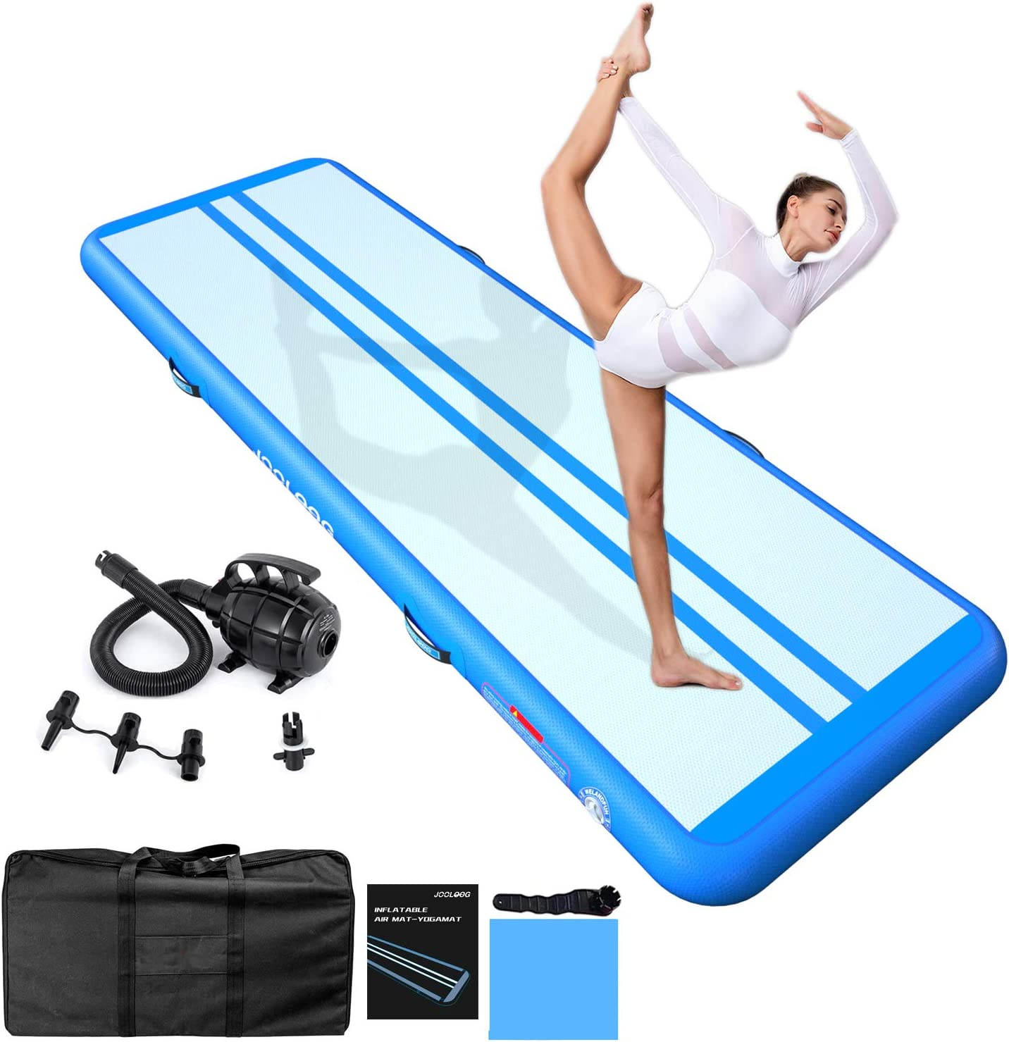 JOOLOOG 13ft 16ft 20ft Cheap mail order sales 23ft 26ft T Max 68% OFF Inflatable Mat Air Gymnastics