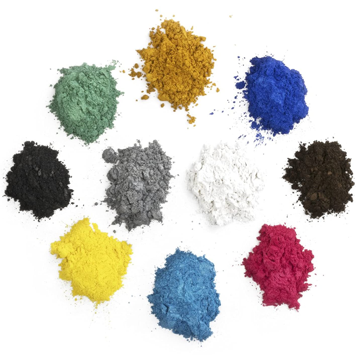 Mica Powder Set Includes More Pigment of 10 Beautiful Colors for Use as an Epoxy Resin Color Pigment, Soap Making Pigment, Resin Dye, Artwork, Crafts and More! 10 Grams of Each Color Pigment Powder ubfhvbewkqi326