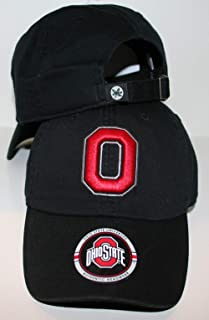 Ohio State University OSU Buckeyes Black Top Relaxed Unstructured Cotton Crew Adult Mens/Boys Adjustable Baseball Hat/Cap