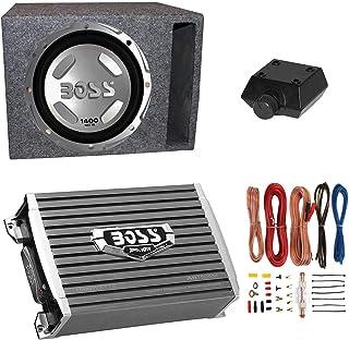 "Boss Audio 12"" 1400W Car Audio Subwoofer & 1500W Mono Class A/B Amplifier with 8 Gauge Wiring Kit & QPower Single 12"" Vent... photo"