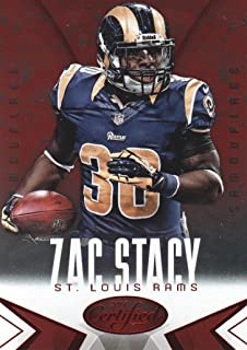 2014 Panini Certified Football Camo Red #91 Zac Stacy St. Louis Rams