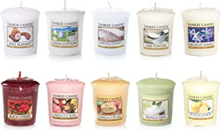 Yankee Candle Value Bundle with 10 Votive Scented Candles, Mixed Popular Fragrances