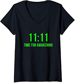 Womens 1111 Synchronicity V-Neck T-Shirt