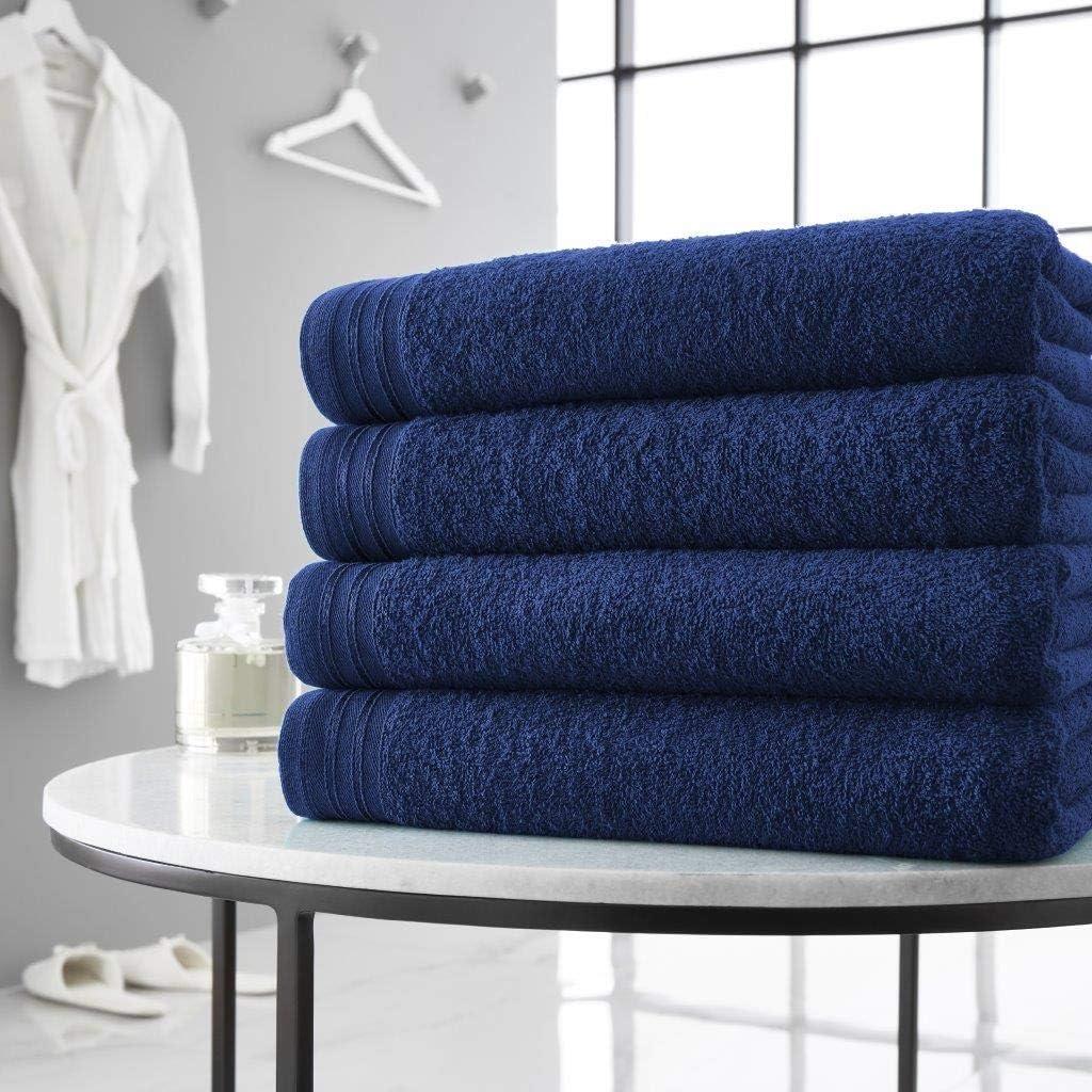 Black Wilsford 4 Pieces Bath Sheets 100/% Pure Egyptian Cotton 500 GSM Super Soft Extra Absorbent Bath Sheets Set
