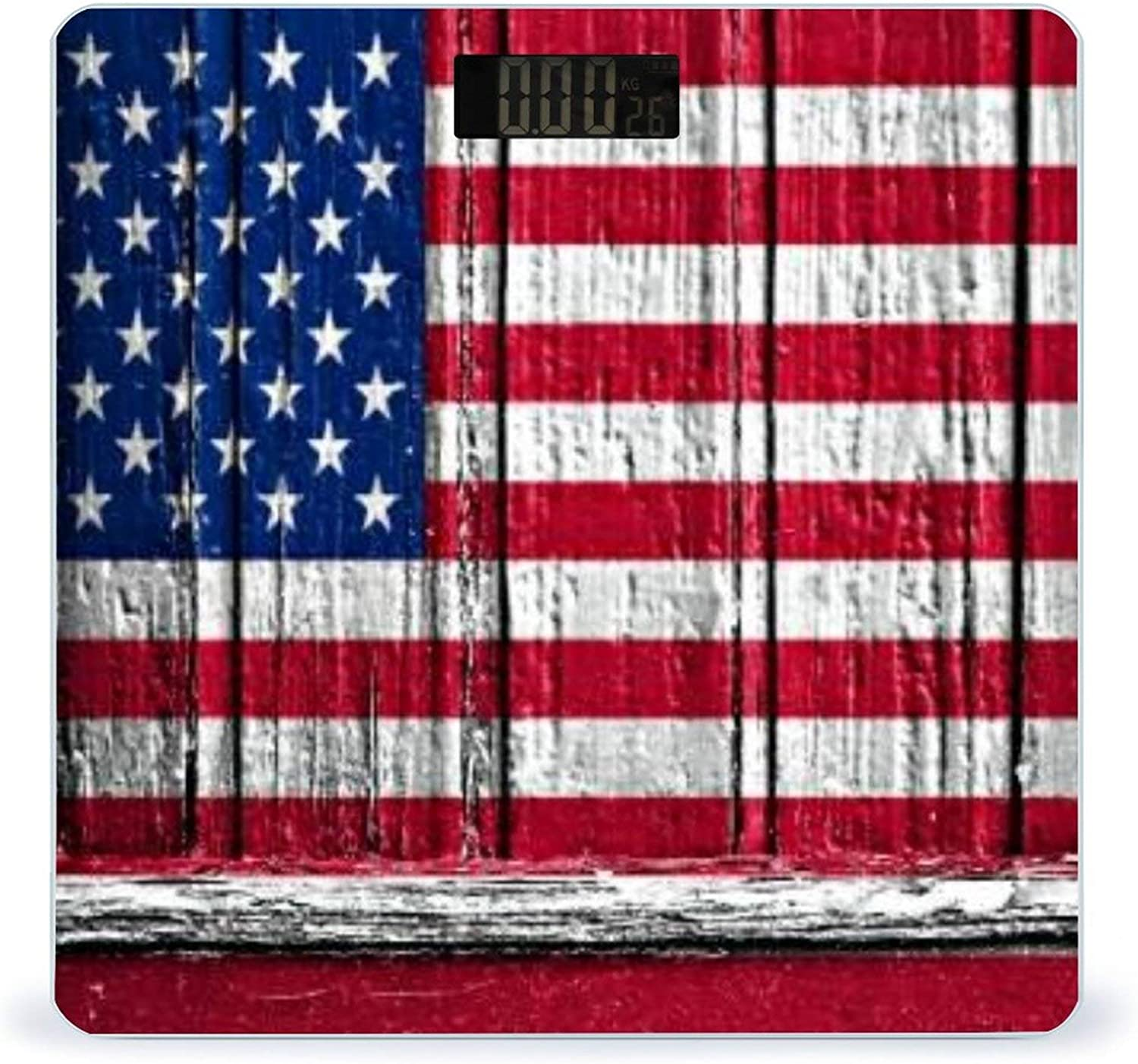 CHUFZSD Flag of USA Ranking TOP18 Painted On Accurate Highly Smar Wooden Tulsa Mall Frame