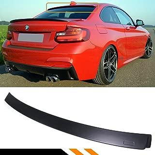 Cuztom Tuning Fits for 2014-2018 BMW F22 228i M235i F87 M2 AC Style Matt Black Finish Rear Window Roof Spoiler Wing
