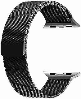 Holihifi ために apple watch バンド 38mm,アップルウォッチバンド ミラネーゼループ Apple Watch 交換バンド iWatch Series 3 Series 2 ステンレス留め金製