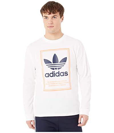 adidas Originals Tongue Label Long Sleeve Tee (White) Men
