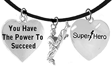 Martial Arts, Kickboxing Jewelry, Karate Jewelry, Super Hero, You Have The Power To Succeed, Martial Arts Jewelry Adjustable Necklace Hypoallergenic, Safe-Nickel, Lead Free