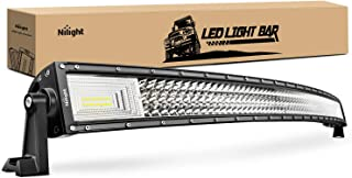 Barra de luz LED Nilight 132.1 cm 783 W curvado Triple fila Flood Spot Combo Beam LED Barra de 78000lm luces de conducción...