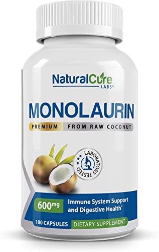 Natural Cure Labs Premium Monolaurin – 600mg, 100 Capsules product image