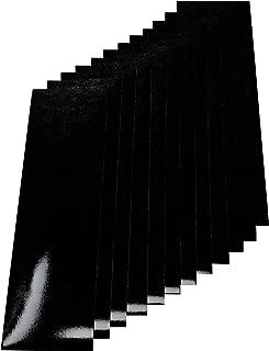 Qbc Craft Motorcycle Black Reflective Tape Kit 12 Sheets 3.5