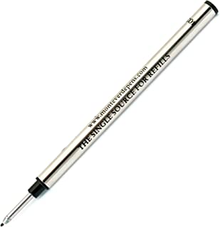 Monteverde Spring Loaded Fine Liner to Fit Most Capped Rollerball Pens, Fine Point, Black, 6 Pack (G623BK)