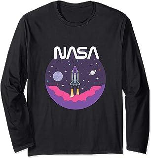 Astronomy NASA Retro Vintage Space Shuttle Manche Longue