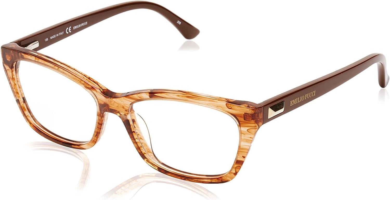 Emilio Pucci EP 2710 265 Brown Striped Eyeglasses