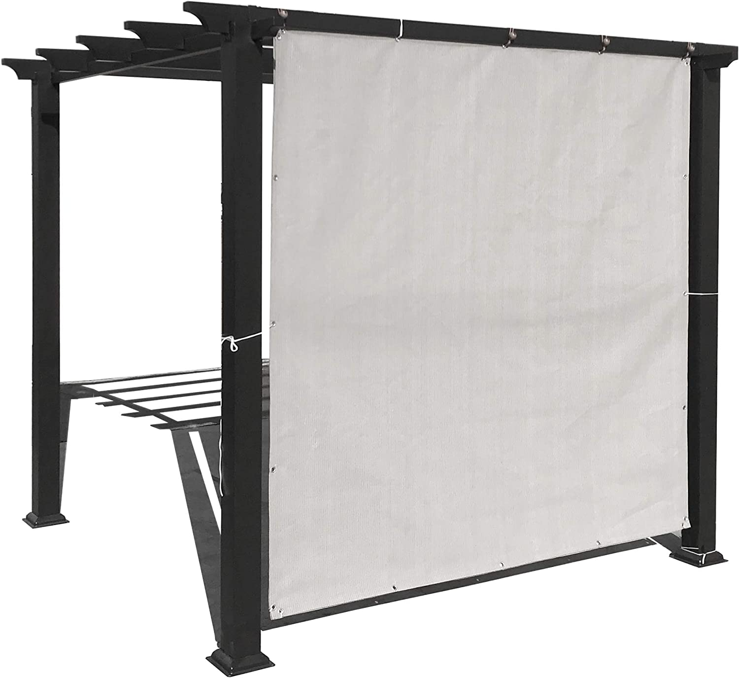 Alion Home Privacy Panel with Grommets and Hems on 4 Sides for Patio, Awning, Window, Pergola or Gazebo. Smoke Grey (6' x 4')