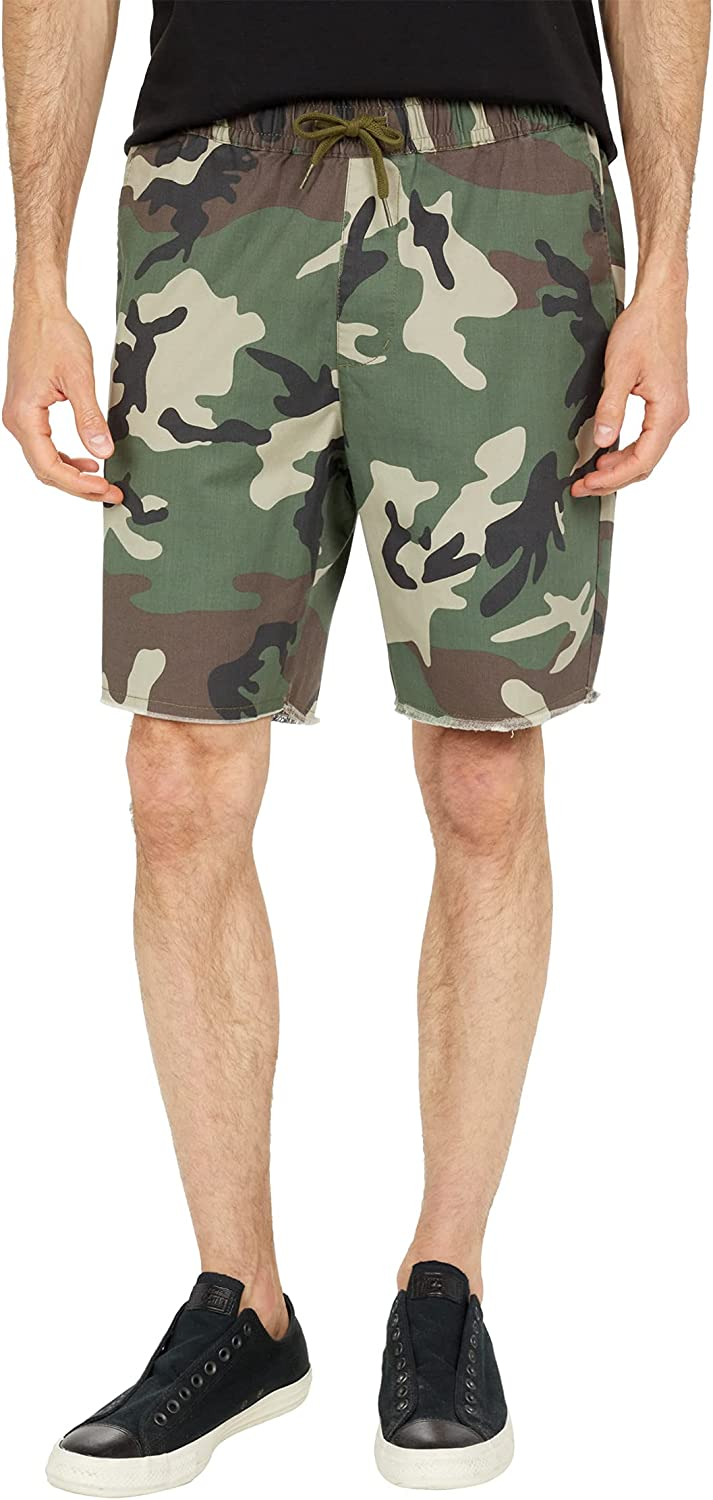 RVCA Men's Weekend Elastic Short : Clothing, Shoes & Jewelry