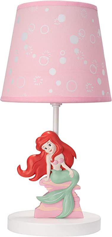 Lambs Ivy Ariel S Grotto Lamp With Shade Bulb Pink