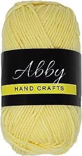 Abby Hand Crafts 100% Milk Cotton Yarn, Soft Yellow, Single Ball 50g / 109 Yards (100m)