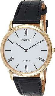 ساعة سيتيزن كاجوال انالوج للرجال من الجلد - aR1113-12B