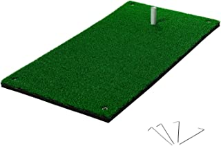 Franklin Sports Practice Golf Mat - Rubber Tee Holder - Grommets - Realistic Turf Grass - Portable Outdoor Sports Golf Training