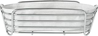Blomus Moonbeam Oval Bread Basket Made of Chrome-Plated Steel and Cotton Fabric Bag