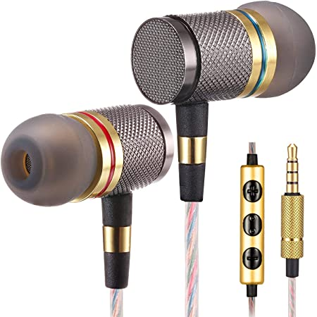 Betron YSM1000 Headphones Earbuds with Microphone High Definition in-Ear Noise Isolating Heavy Deep Bass