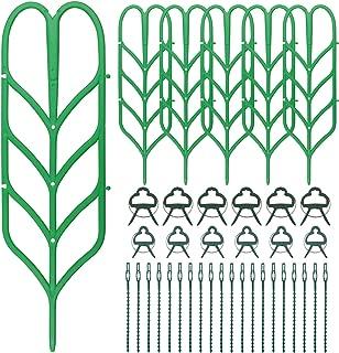 Ausla Clips de Jardin R/églable pour Jardin tomates 40PCS L/égumes Support Caches de Tuteurs de Jardin Structure de Support Attache-Plante Vigne