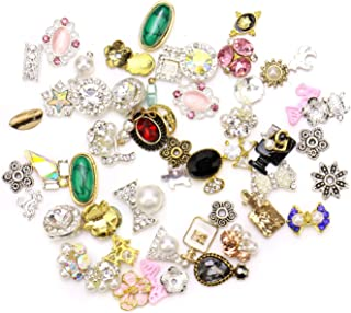 JETEHO 40 Pieces Multi-Colored Shining Diamond Rhinestones for Nails Decoration Makeup Clothes Shoes