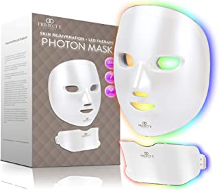 Project E Beauty Photon Skin Rejuvenation Face & Neck Mask | Wireless LED Photon Red Blue Green Therapy 7 Color Light Trea...