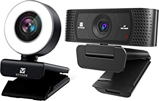 Vitade 960A PC Webcam for Streaming HD 1080P, Vitade 928A HD Webcam 1080P with Microphone & Cover Slide (Bundle-2 Items)