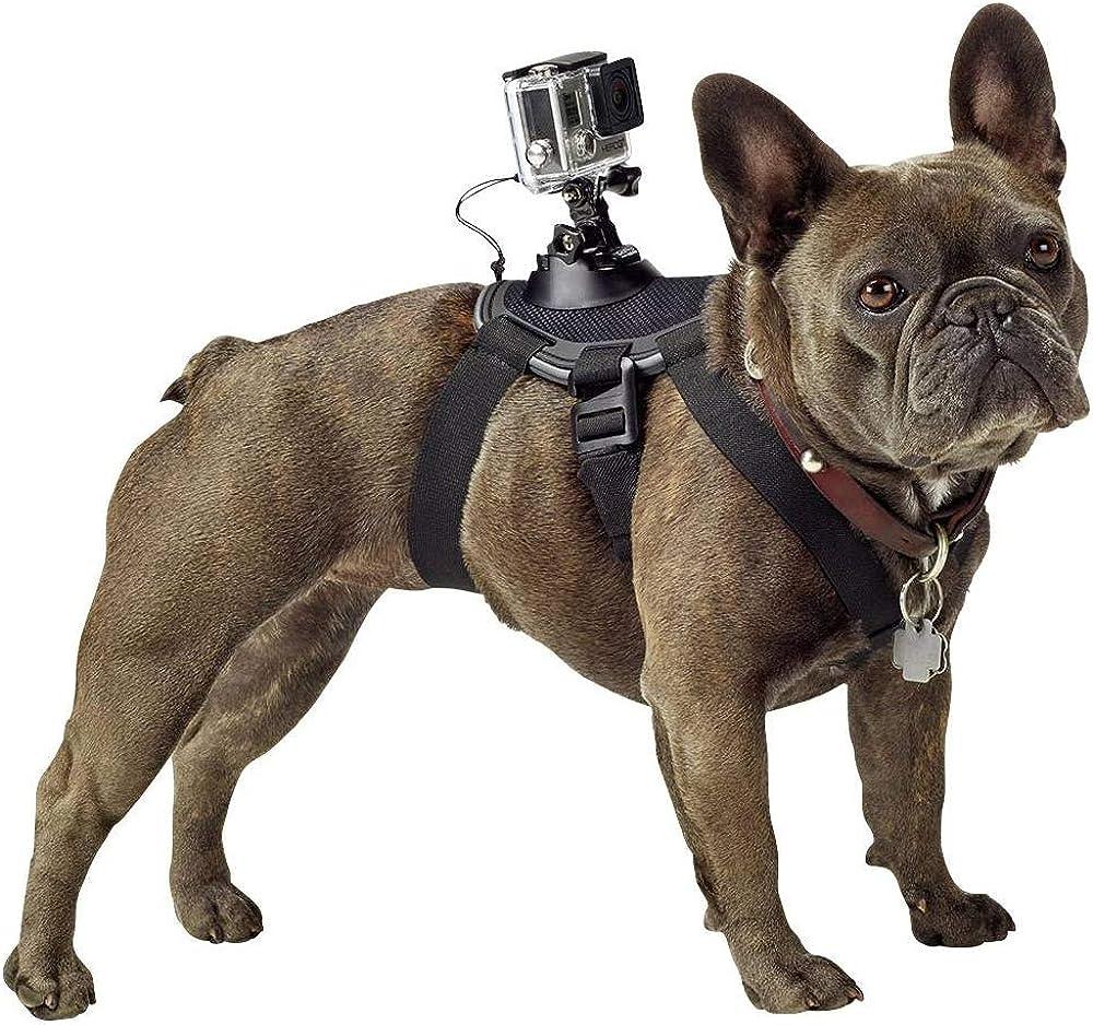 Gopro, imbragatura per cani dotata di due punti di montaggio webcam ADOGM-001