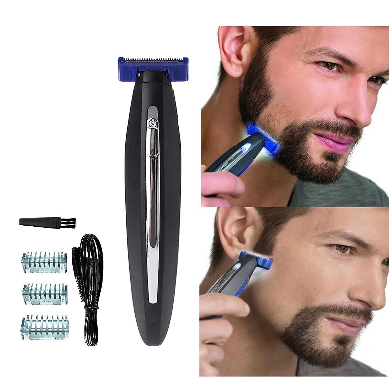 予見する売上高散歩に行く男性のための電気かみそり、髪のクリーニングシェーバートリマーと防水スマートかみそり、男性のための眉毛のひげのフェイシャルとボディヘアーのための毛の除去剤, black