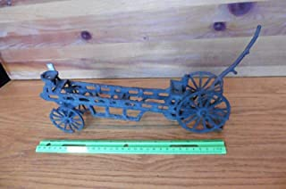 cast iron toys horse and wagon