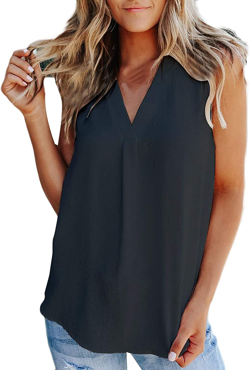 Tank Tops for Women Loose Fit Neck 5 Popular shop is the lowest price challenge popular Sleeveless V Sh Summer Casual