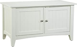 Shaker Cottage Storage Bench/Cabinet with 2 Doors, Ivory