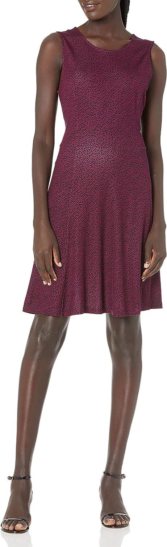 Lark Ro 高級 Women's Sleeveless Wide Scoop 直営店 Dress Fit Neck Flare and