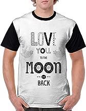 Man's T Shirts,Boho Hipster Valentines Sketch Art Style Phrase Stars Arrows Comets Vintage Design