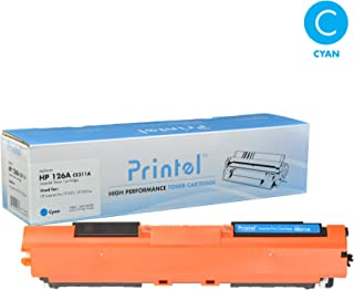 Printel Replacement Toner Cartridge for HP 126A (CE311A) Cyan, Compatible with Canon LBP7010, Canon LBP7018, HP Color Laserjet CP1025