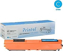 HP 126A (CE311A) Toner Cartridge Cyan Toner Cartridge Replacement for Canon LBP7010, Canon LBP7018, HP Color Laserjet CP1025 by Printel