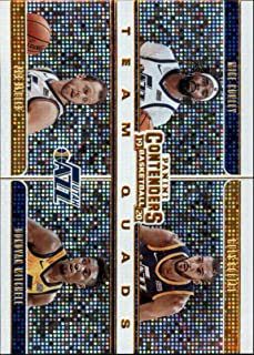 2019-20 NBA Contenders Team Quads #29 Joe Ingles/Donovan Mitchell/Rudy Gobert/Mike Conley Utah Jazz Official Panini Basketball Trading Card from Hobby (Scan streaks are Not on the Card Itself)