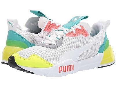 PUMA Cell Phantom (Puma White/Blue Turquoise/Nrgy Red/Castle) Men